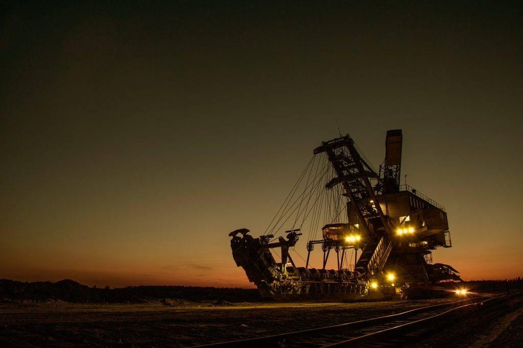 mining excavator, electric, bucket-wheel excavator